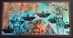 Annekescardart Journey, Art Journals, Stamps, Challenges, Artwork, Cards, Travel, Painting, Beach
