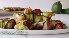 Spiedini di zucchine con pollo e salvia