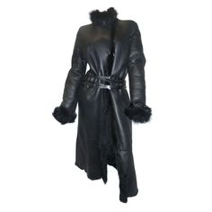 1stdibs.com | Tom Ford for Gucci Black Spectacular Shearling Coat Coll 2003