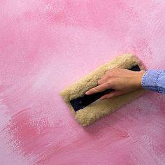 Esfumace a tinta usando uma desempenadeira