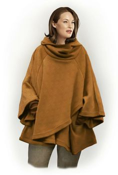 Poncho - Naaipatroon #5798. Made-to-measure sewing pattern from Lekala with free online download.
