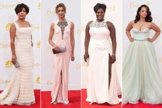 From left, Selenis Leyva; Alysia Reiner; Danielle Brooks; and Dascha Polanco. #Beauty #hair #hairproducts #professionalhairproducts #salonproducts #distributor #BeautyProDistributor  #2014Emmys #EmmyAwards2014 #CelebrityHair #CelebrityHairStyles #Hair #EmmyHair