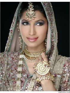 Unique Bridal Jewellery Design, but we also love the makeup!