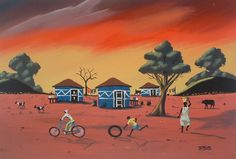 African Art, Image Search, Scene, Urban, Painting, Storage, Blue, Products, Purse Storage