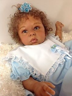 "ADOREABLE ETHNIC BABY GIRL ""ANNIE"" FROM NEW KIT ELEANOR ANN BY LAURA TUZIO-ROSS"
