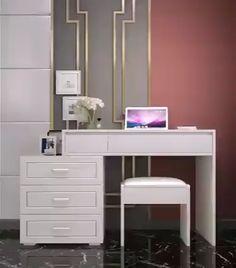 Room Design Bedroom, Bedroom Furniture Design, Room Ideas Bedroom, Home Room Design, Dressing Room Decor, Dressing Room Design, Bedroom Dressing Table, Makeup Dressing Table, Dressing Tables