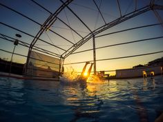 jump to the swimming pool. Took by gopro with 30 photo/1 second burst photo, And edited by Adobe Lightroom.