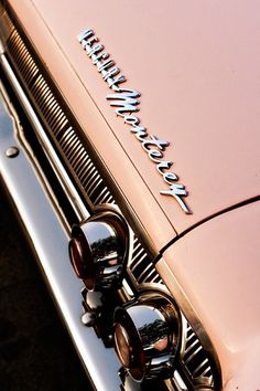 Items similar to Pink Mercury Monterey Classic Car - Car Art for Her - Chrome Details - Mad Men Inspired - Typography - 8X12 Fine Art Photograph on Etsy