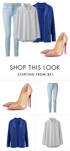 """""""hgbnnnnnn"""" by v-askerova on Polyvore featuring мода, Christian Louboutin, Frame, Boohoo и Uniqlo"""