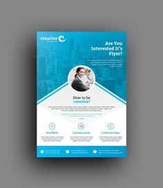 This corporate flyer is designed in Adobe Photoshop. The template includes help file and Photoshop PSD's. All PSD files are very well organized, flyer templates. Graphic Design Flyer, Creative Flyer Design, Creative Flyers, Graphic Design Templates, Advertising Flyers, Marketing Flyers, Business Cards And Flyers, Business Flyer Templates, Business Design