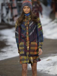 high fashion plaid and fur fall winter - Google Search