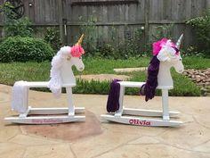 Custom designed rocking unicorns and rocking horses!