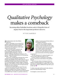 Fielding Psychology Faculty Member Named New Editor of APA Journal: Qualitative Psychology