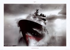 Abeille-Bourbon, French high sea tug by Philip Plisson