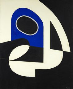 thunderstruck9:  Georges Folmer (French, 1895-1977), Composition à l'ellipse, 1963-64. Mixed media on panel, 70 x 57 cm.