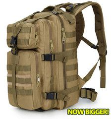 ★ New ★ Military Tactical Backpack Now Bigger!Please allow 2-4 weeks for deliveryMaterial:MilitaryuseNylon