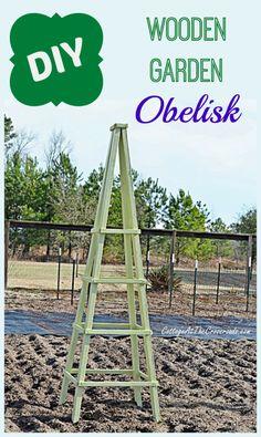 DIY Wooden Garden Obelisk | Cottage at the Crossroads