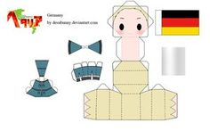 Hetalia Germany Papercraft Hetalia Paperdolls, Free Printable Hetalia Dolls for fans of wonderweirded.com
