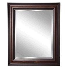 American Made Rayne Dark Walnut Beveled Wall Mirror
