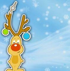 Rudolph rednose on blue, vk Happy, Christmas, Cartoons, Diy, Blue, Funny Christmas Cards, Xmas, Cartoon, Bricolage