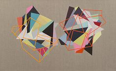 Fiona Curran ~ Double Blind, 2008–09 acrylic on linen with card