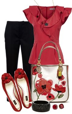 """Red and Black"" by averbeek on Polyvore"