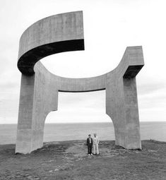 the eulogy to the horizon by Eduardo Chillida (1990) gijon, spain