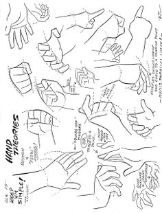 Character design references, how to draw basic hands