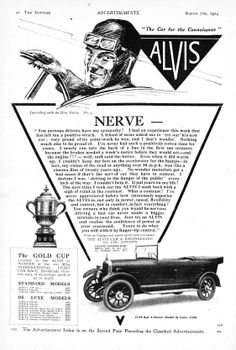 Alvis Car Autocar Advert 1924 - Nerve