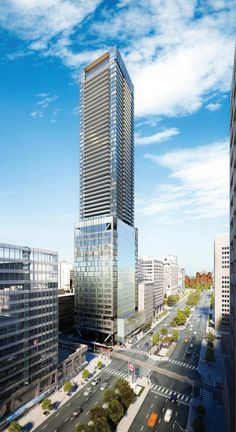 The Residences of 488 University Avenue will be constructed atop an existing office building, image courtesy of Amexon