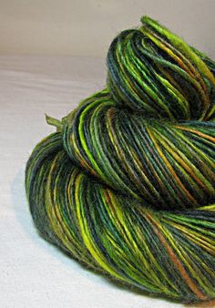 Handspun Yarn Gently Thick and Thin Single Blue by SheepingBeauty, $34.00