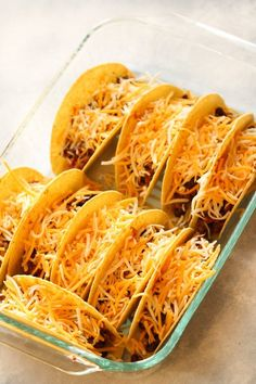 Oven Baked Beef Tacos Recipe - #oventacos - Oven Baked Beef Tacos Recipe... Oven Baked Tacos, Baked Tacos Recipe, Baked Chicken Tacos, Chicken Taco Recipes, Easy Baked Chicken, Mexican Food Recipes, Taco Bake, Taco Casserole, Casserole Dishes