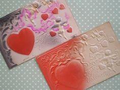 感謝set アンティークポストカード絵葉書 天使エンボス 2枚 Antique postcard ¥210yen 〆04月02日