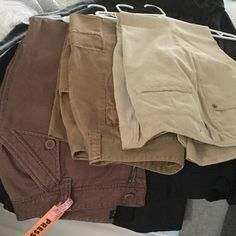 3 pair slacks Three pair brown/beige/khaki pants. All in fantastic shape. Willi Smith and others Pants