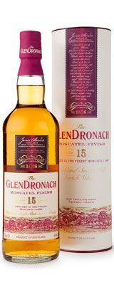 Glendronach Moscatel Finish Aged 15 years old Single Malt Whisky available from Whisky Please.