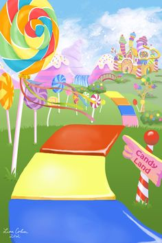 candyland background | Candyland Background Candy land by drakkenfan