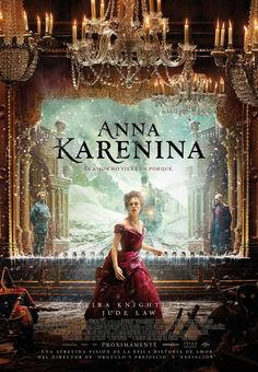 Anna Karenina. 2012.   This wasn't my favorite rendition of the classic story, but this is definitely one of the most beautiful movie posters I've ever seen!