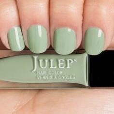 Kam - Vintage Spearmint Crème.  Get your first box free!  ($45 value) http://www.julep.com/rewardsref/index/refer/id/313807/