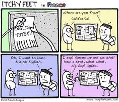 Itchy Feet: Le Côrrect Englàis