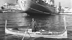 The late Carmel Camilleri aboard his dgħajsa tal-pass, which he used to ferry then Princess Elizabeth between 1949 and 1951. Sixty years later, Catherine, the Duchess of Cambridge, will travel on it during her Independence Day visit to Malta.