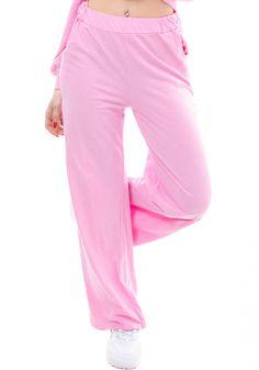 Παντελόνι φόρμαςMiss Pinky με λάστιχο. Τοπαντελόνι φόρμαςείναι ψηλόμεσο και στη μέση έχει λάστιχο. Το σχέδιο του είναι καμπάνα