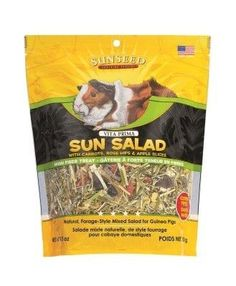 SMALL ANIMAL - FOOD - SUN SALAD GUINEA PIG - 10 OZ - Vitakraft Sun Seed, Inc - UPC: 87535360663 - DEPT: SMALL ANIMAL PRODUCTS