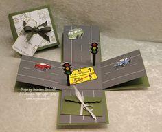 Weiteres - Magic Box zum Führerschein - ein Designerstück von majas-C-ards bei. 18 Birthday, Birthday Cards, Magic Box, Explosion Box Tutorial, Card In A Box, Exploding Box Card, Diy And Crafts, Paper Crafts, Message Card