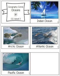 Geography review cards.