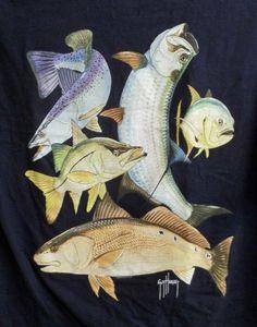 Size L//XL Canvas Sailfish and Hibiscus GUY HARVEY Women/'s Belt NEW Aqua