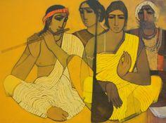 Musicians II | Painting by artist Siddharth Shingade