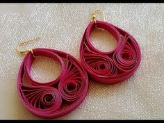 New Model quilling papers earring - Paper earrings making tutorial video Paper Quilling Flowers, Paper Quilling Tutorial, Paper Quilling Jewelry, Paper Quilling Patterns, Paper Jewelry, Paper Beads, Wire Jewelry, Handmade Jewelry, Quilling Earrings Jhumkas