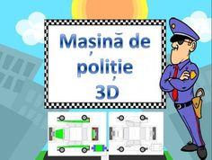 Masina de politie 3D , sablon alb-negru si color cu instructiuni 3 D, Family Guy, Guys, Places, Fictional Characters, Boyfriends, Fantasy Characters, Men, Boys