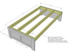 how to make a daybed frame - Google Search