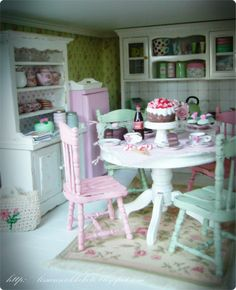shabby chic shack picture   Shabby Chic Green Cottage
